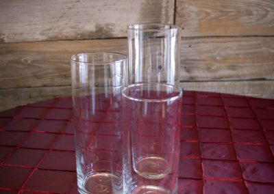 "Cylinder Glass 7.5"" & 9"" & 10.5"""