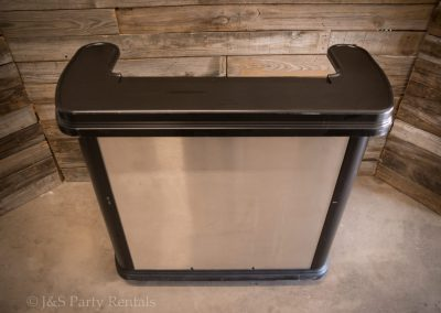 "Portable Bar w: Stainless Paneling 47-3:4""H x 58-1:8"" L x 26-5:16"" W"