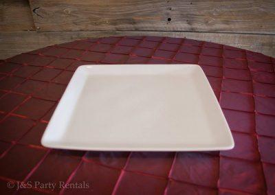 Porcelain Rectangular Platter 9.5x15.25in White