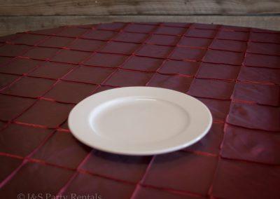 """11"""" Francessa White Dinner Plate"""