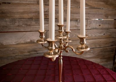 "5 Arm Gold Candleabra 17.25"" x 11"""