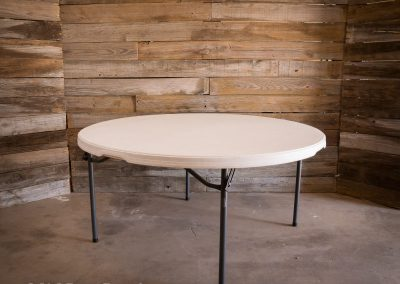 "60"" Round table 60"" x 29"" H - Seats 8"