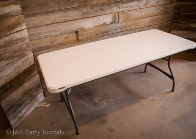 "6ft Rectangular Table 72""L 30'W 29""H - Seats 6"