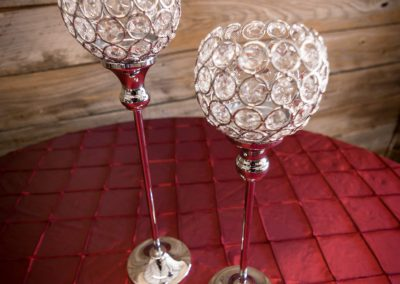 Crystal Candle Lantern Holders 15.8in & 13.8""