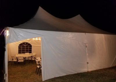 High Peak Tent 20X30 | 6 Round Tables Seats 50 | Seats 90 Without Tables