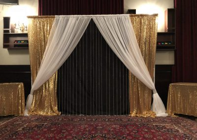 Pipe & Drapes | Gold & Black