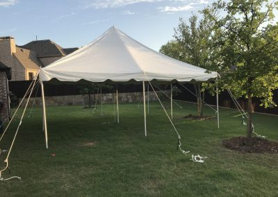 Standard Open Tent 20x20 | Seat 4 round tables - Seats 32